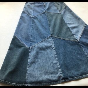 Lucky Brand Vintage Boho Hippie Denim Skirt